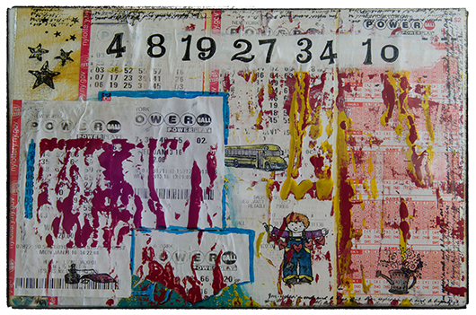 PowerBall Lottery Tickets - Mixed Media